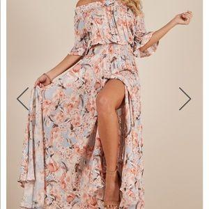 Leah Off The Shoulder Maxi Dress